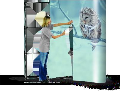 Nová potlač prezentačnej steny